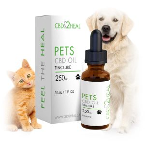 CBD2HEAL Pets CBD Oil Tincture 250mg - For medium-sized pets