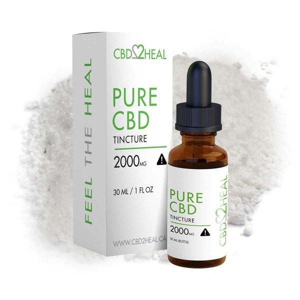 CBD2Heal Pure CBD Oil Tincture 2000mg (30 ml Bottle)