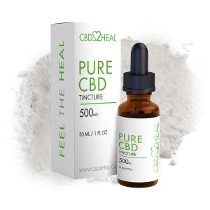 CBD2Heal Pure CBD Oil Tincture 500mg (30 ml Bottle)