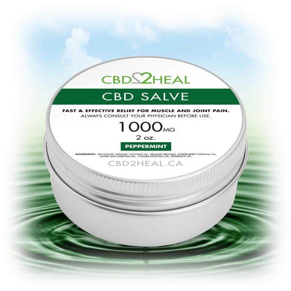CBD Healing Salve Peppermint 1000mg