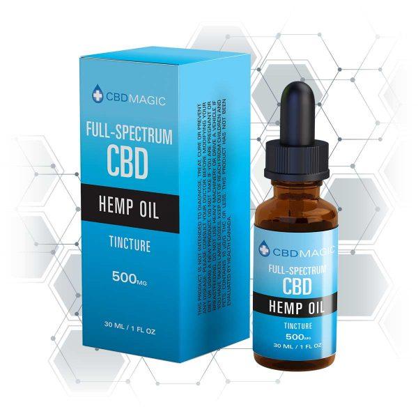 Full Spectrum CBD Hemp Oil Tincture 500mg (30 ml Bottle)