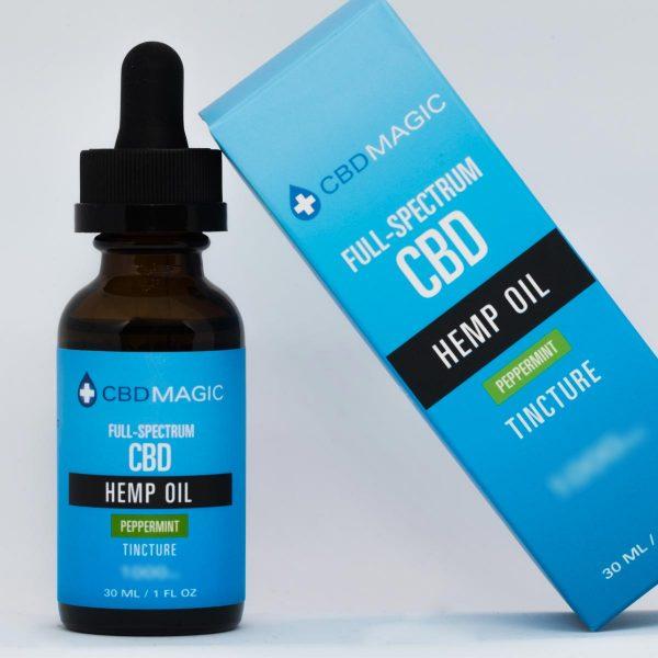 Full Spectrum CBD Hemp Oil Peppermint Tincture 500mg (30 ml Bottle)