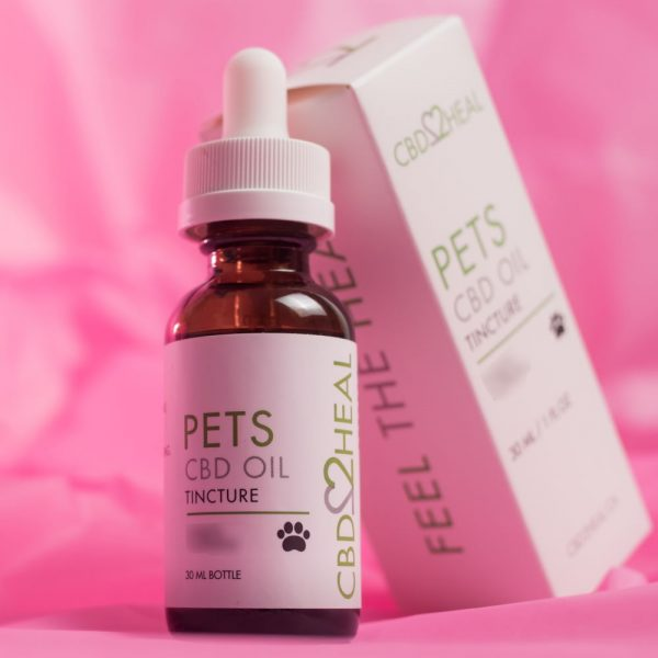 CBD oil for dogs Canada - CBD2HEAL Pets CBD Oil Tincture 150mg - For small-sized pets