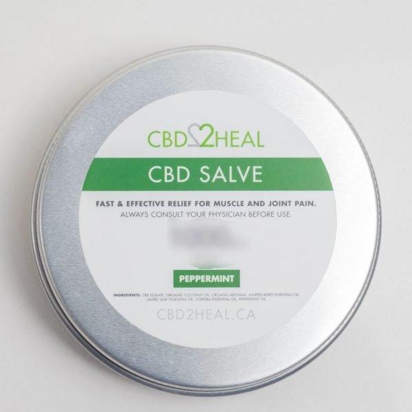 CBD2HEAL CBD Healing Salve Peppermint 4000mg